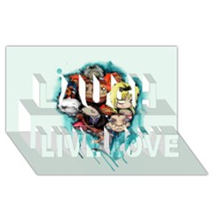 Should You Need Us 2 0 Laugh Live Love 3d Greeting Card (8x4) by lvbart