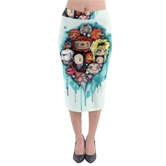 Should You Need Us 2 0 Midi Pencil Skirt by lvbart
