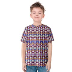Ethnic Colorful Pattern Kids  Cotton Tee