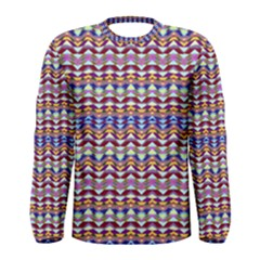 Ethnic Colorful Pattern Men s Long Sleeve Tee