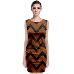 Chevron9 Black Marble & Brown Marble (r) Classic Sleeveless Midi Dress by trendistuff