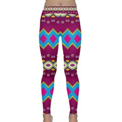 Rhombus And Ovals Chains                                                                                                               Yoga Leggings by LalyLauraFLM