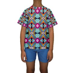 Targets Pattern                                                                                                                 Kid s Short Sleeve Swimwear by LalyLauraFLM