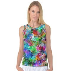 Colorful Strokes                                                                                                                Women s Basketball Tank Top by LalyLauraFLM