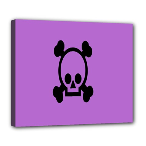 Cartoonskull Danger Deluxe Canvas 24  X 20   by AnjaniArt