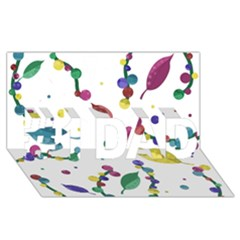Abstract Floral Design #1 Dad 3d Greeting Card (8x4)