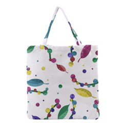 Abstract Floral Design Grocery Tote Bag by Valentinaart