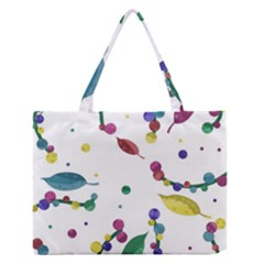 Abstract Floral Design Medium Zipper Tote Bag by Valentinaart