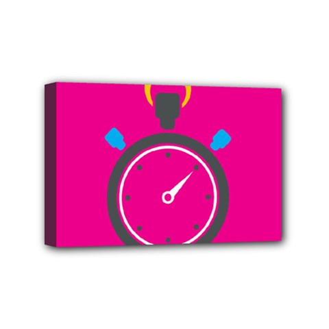Alarm Clock Houre Mini Canvas 6  X 4  by AnjaniArt