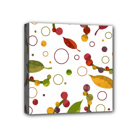 Adorable Floral Design Mini Canvas 4  X 4  by Valentinaart