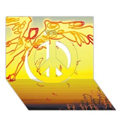 Angel Peace Sign 3d Greeting Card (7x5)