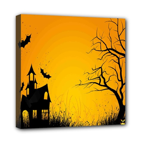 Day Halloween Night Mini Canvas 8  X 8  by AnjaniArt