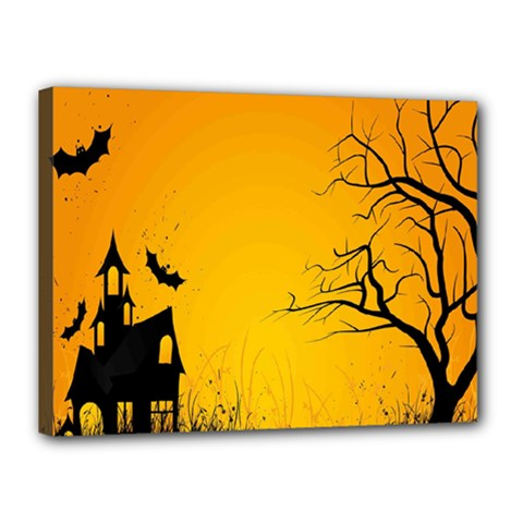 Day Halloween Night Canvas 16  X 12  by AnjaniArt