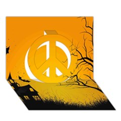 Day Halloween Night Peace Sign 3d Greeting Card (7x5) by AnjaniArt