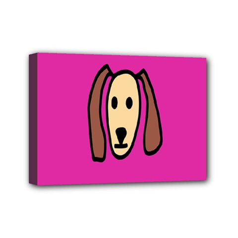 Face Dog Mini Canvas 7  X 5  by AnjaniArt