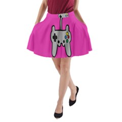 Game Pink A Line Pocket Skirt