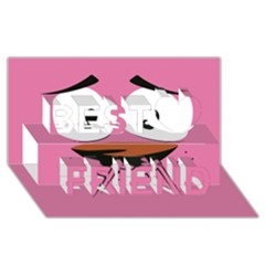 Funny Face Best Friends 3d Greeting Card (8x4) by AnjaniArt