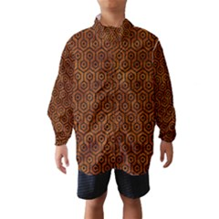 Hexagon1 Black Marble & Brown Marble (r) Wind Breaker (kids) by trendistuff