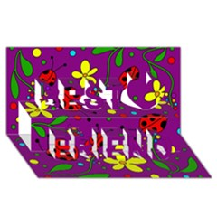 Ladybugs   Purple Best Friends 3d Greeting Card (8x4) by Valentinaart