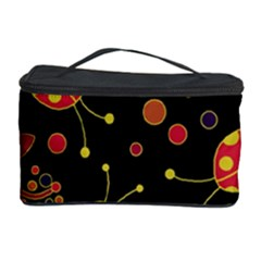Flowers And Ladybugs 2 Cosmetic Storage Case by Valentinaart