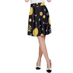 Ladybugs And Flowers 3 A Line Skirt by Valentinaart