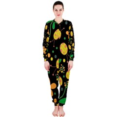 Ladybugs And Flowers 3 Onepiece Jumpsuit (ladies)