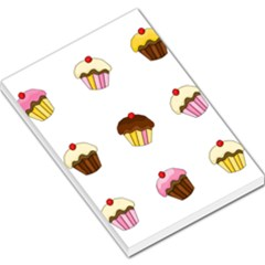 Colorful Cupcakes  Large Memo Pads by Valentinaart