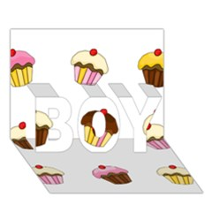 Colorful Cupcakes  Boy 3d Greeting Card (7x5) by Valentinaart