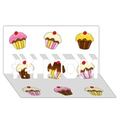 Colorful Cupcakes  #1 Mom 3d Greeting Cards (8x4) by Valentinaart