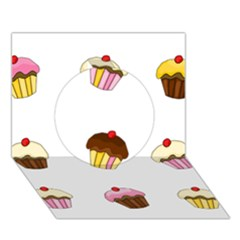Colorful Cupcakes  Circle 3d Greeting Card (7x5) by Valentinaart