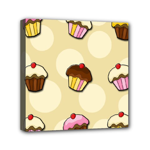 Colorful Cupcakes Pattern Mini Canvas 6  X 6  by Valentinaart