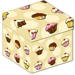 Colorful Cupcakes Pattern Storage Stool 12