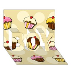 Colorful Cupcakes Pattern Boy 3d Greeting Card (7x5) by Valentinaart