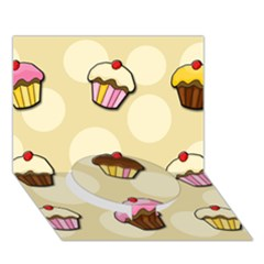 Colorful Cupcakes Pattern Circle Bottom 3d Greeting Card (7x5) by Valentinaart