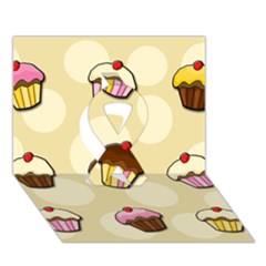 Colorful Cupcakes Pattern Ribbon 3d Greeting Card (7x5) by Valentinaart