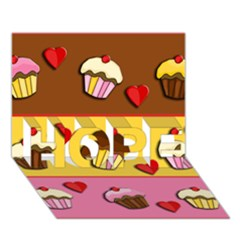 Love Cupcakes Hope 3d Greeting Card (7x5) by Valentinaart