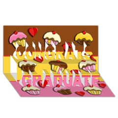 Love Cupcakes Congrats Graduate 3d Greeting Card (8x4) by Valentinaart