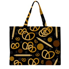 Bakery 2 Zipper Large Tote Bag by Valentinaart