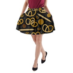 Bakery 2 A Line Pocket Skirt by Valentinaart