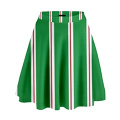 Green Line High Waist Skirt