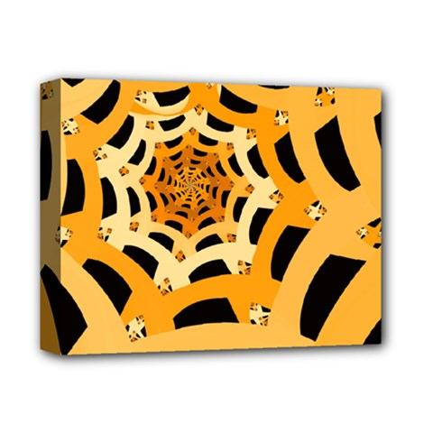 Spider Helloween Yellow Deluxe Canvas 14  X 11  by AnjaniArt