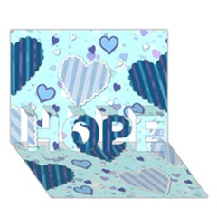 Light And Dark Blue Hearts Hope 3d Greeting Card (7x5) by LovelyDesigns4U