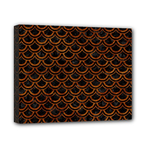 Scales2 Black Marble & Brown Marble Canvas 10  X 8  (stretched) by trendistuff