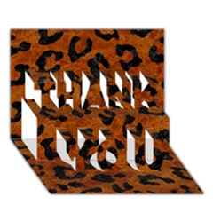 Skin5 Black Marble & Brown Marble Thank You 3d Greeting Card (7x5) by trendistuff