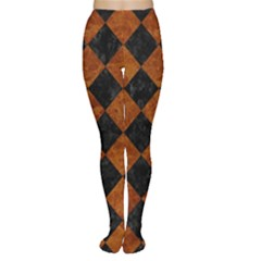 Square2 Black Marble & Brown Marble Tights by trendistuff