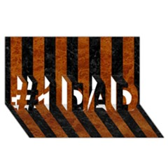 Stripes1 Black Marble & Brown Marble #1 Dad 3d Greeting Card (8x4)