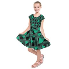 Green Love Kids  Short Sleeve Dress by Valentinaart