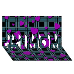 Purple Love #1 Mom 3d Greeting Cards (8x4) by Valentinaart
