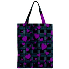 Purple Love Classic Tote Bag by Valentinaart