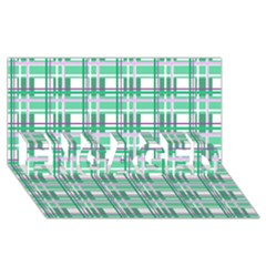 Green Plaid Pattern Engaged 3d Greeting Card (8x4) by Valentinaart